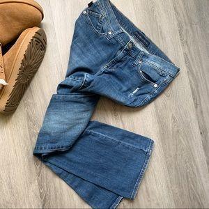 Rock & Republic Distressed Bootcut Boho Jeans 8